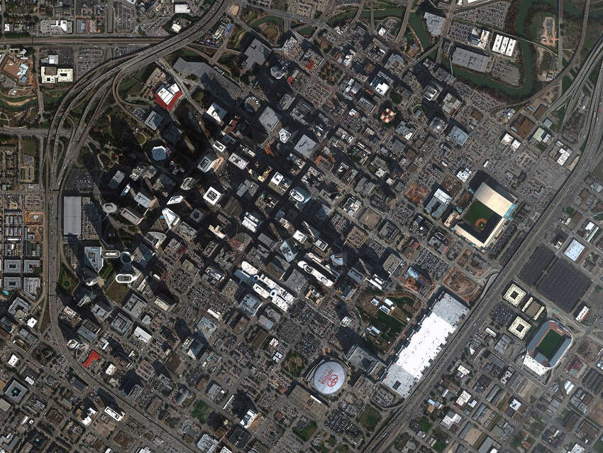 New high-resolution satellite imagery of Houston from DigitalGlobe.