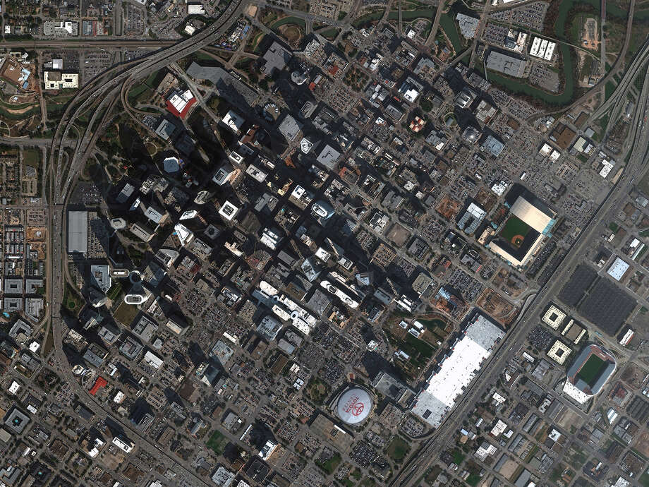 New high-resolution satellite imagery of Houston from DigitalGlobe. Photo: DigitalGlobe