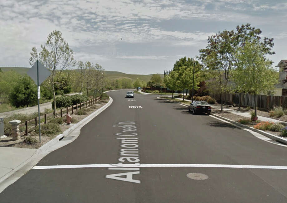 Two men were shot and killed on Altamont Creek Drive near Winding Stream Drive in Livermore on Sunday. Photo: Google Maps