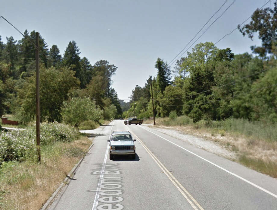 Four people were killed when a car collided with a pickup truck on Freedom Blvd. near Aptos on  Sunday evening, Photo: Google Maps