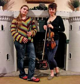 Flutist Autumn Rhodes (left) and fiddler Darcy Noonan will teach kids songs in Gaelic during the Children's Hour of Dance and Music.