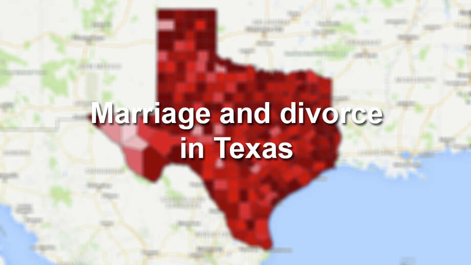Here are 9 facts you need to know about marriage and divorce in the Lone Star State. Photo: Department Of State Health Services/Google Fusion Tables