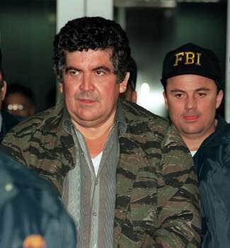 Former Gulf Cartel boss Juan Garcia Abrego was convicted in Houston in October 1996 of 22 counts of drug trafficking, conspiracy, money laundering and operating a continuing criminal enterprises. (Houston Chronicle) Photo: Kerwin Plevka, Houston Chronicle