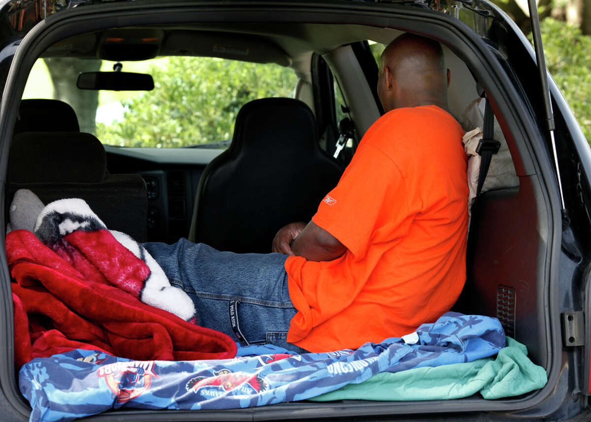 Earl Taylor, a sex-offender parolee, often sleeps in the back of his truck in Fairfield because he cannot live with his wife, whose home is less than 2,000 feet from a school or park.