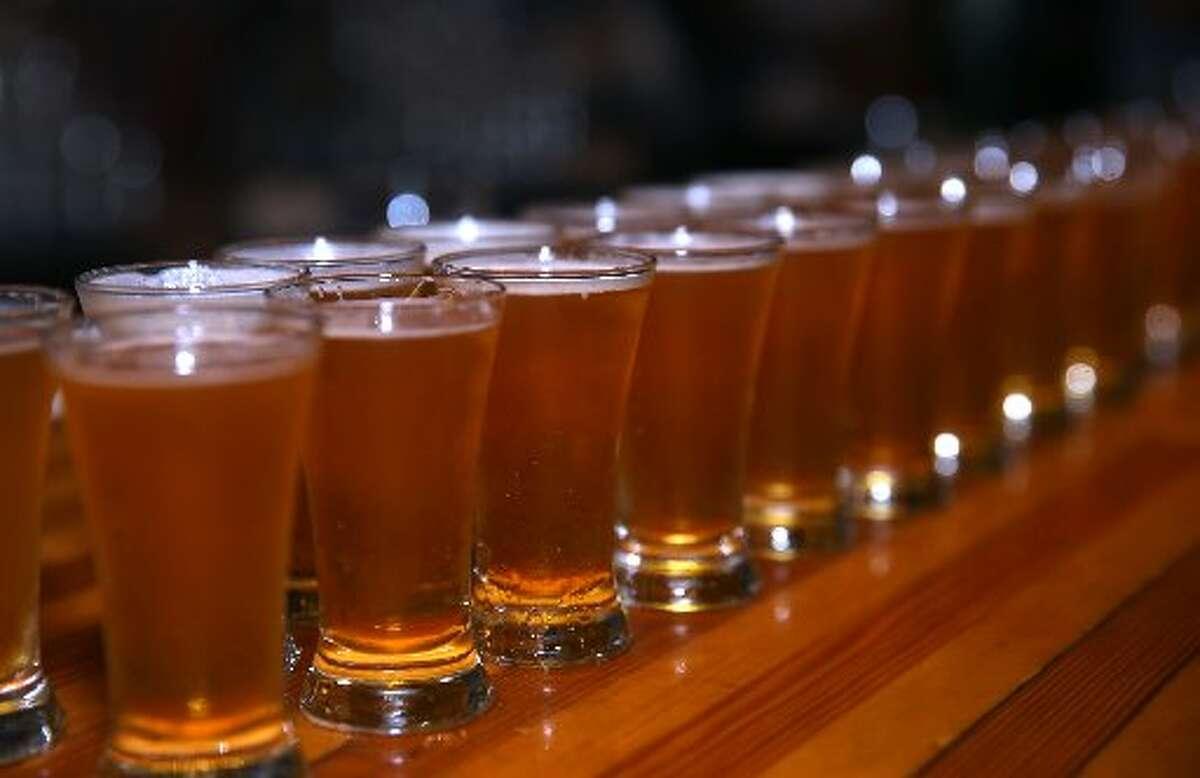 Beer, glasses after glass