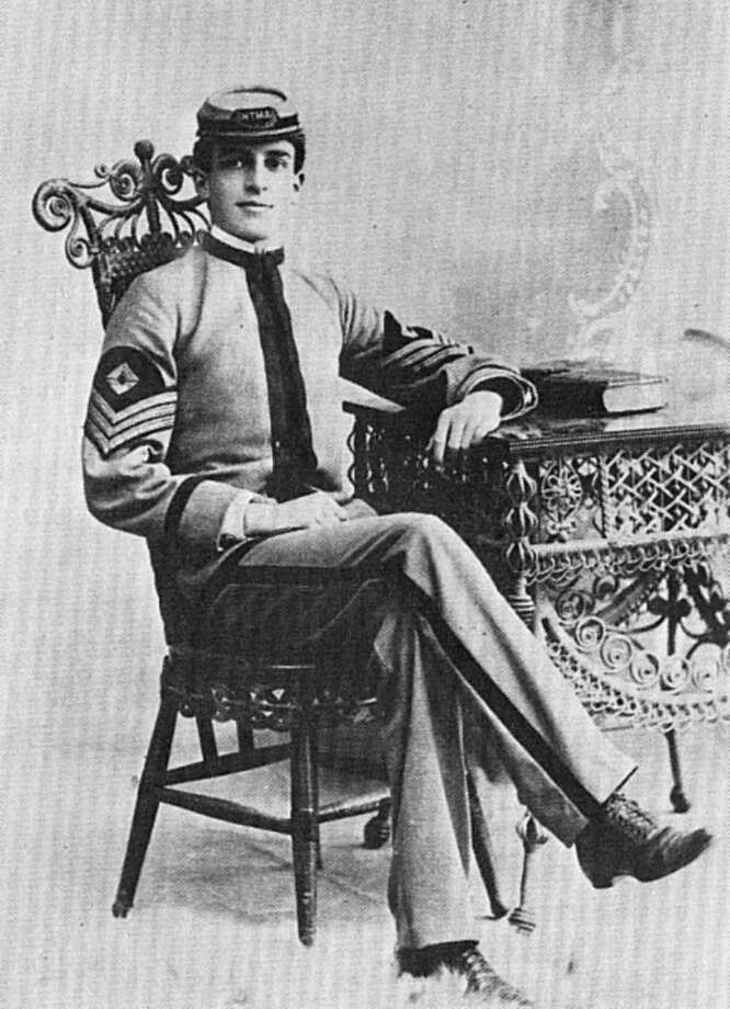 First Sgt. Douglas MacArthur is photographed in his Texas Military Institute uniform in 1897, his senior year at TMI. He graduated first in his class. Photo: Courtesy Photo / Texas Military