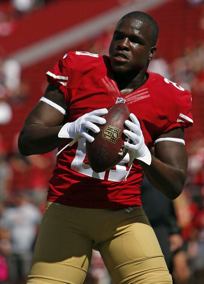 San Francisco 49ers'  Frank Gore before playing Kansas City Chiefs during NFL game at Levi's Stadium in Santa Clara, Calif. on Sunday, October 5, 2014. Photo: Scott Strazzante, The Chronicle