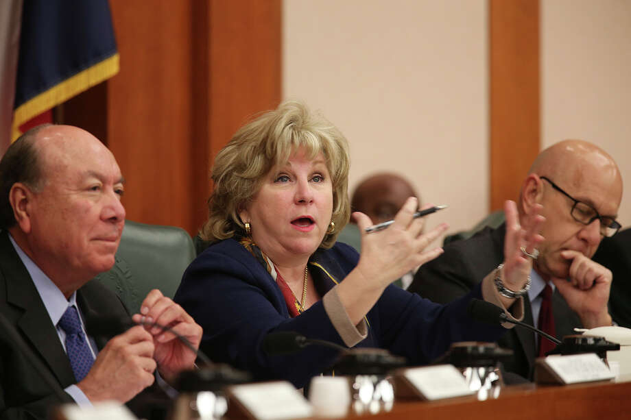 FILE PHOTO — Chairman Sen. Jane Nelson, R-Flower Mound, makes an introductory statement at the start of a State of Texas Senate Finance Committee meeting at the State Capitol, Monday, March 2, 2015. Photo: JERRY LARA, Staff / San Antonio Express-News / © 2015 San Antonio Express-News