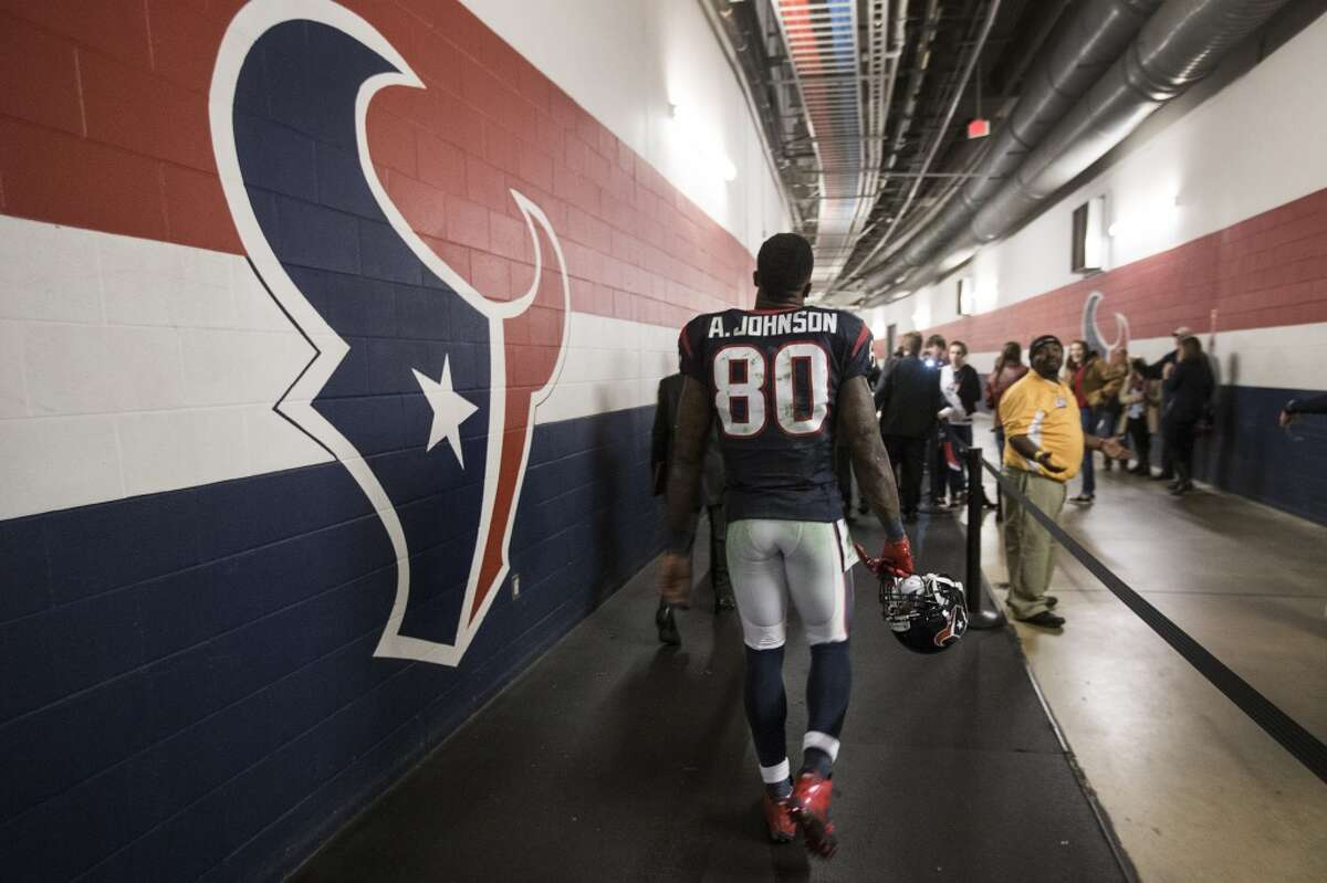 Unquestionably the greatest player in Texans history, wide receiver Andre Johnson left the franchise that drafted him for the Indianapolis Colts after the 2014 season. ( Brett Coomer / Houston Chronicle )