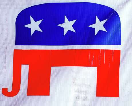 380771 03: The Republican Party's elephant symbol is seen on display October 24, 2000 at the Republican campaign headquarters in El Paso, Texas. (Photo by Joe Raedle/Newsmakers)