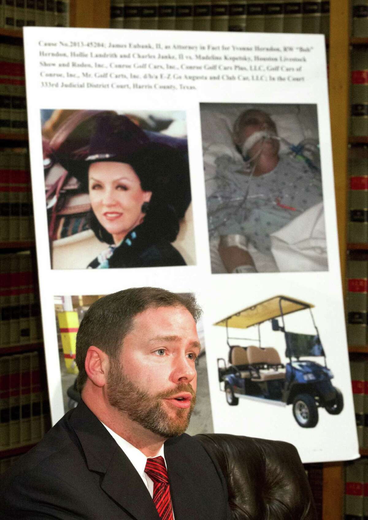 """Attorney Brant Stogner was one of the lawyers representing the family of Yvonne """"Bonnie"""" Herndon, who is still in a coma after a brain injury."""