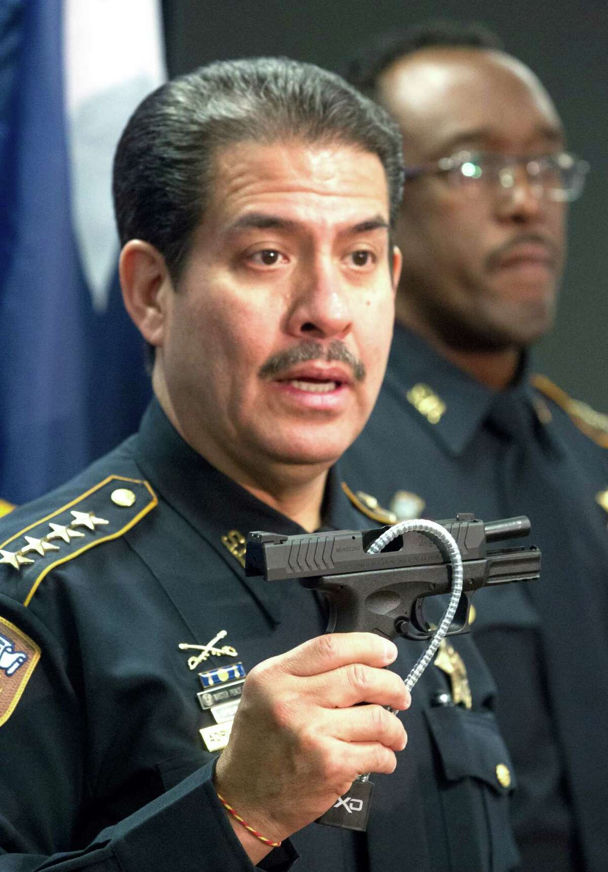 Sheriff Adrian Garcia says parents can receive gun locks from the Sheriff's Office free of charge in an effort to protect children from firearms.