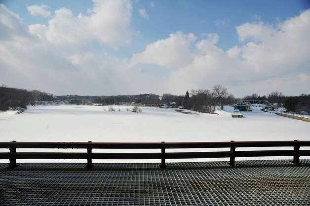 A view from the Second St. bridge over the Mohawk River looking west towards where the Mohawk and the Erie canal split, on Monday, March 2, 2015, in Waterford, N.Y.  (Paul Buckowski / Times Union) Photo: PAUL BUCKOWSKI / 00030827A