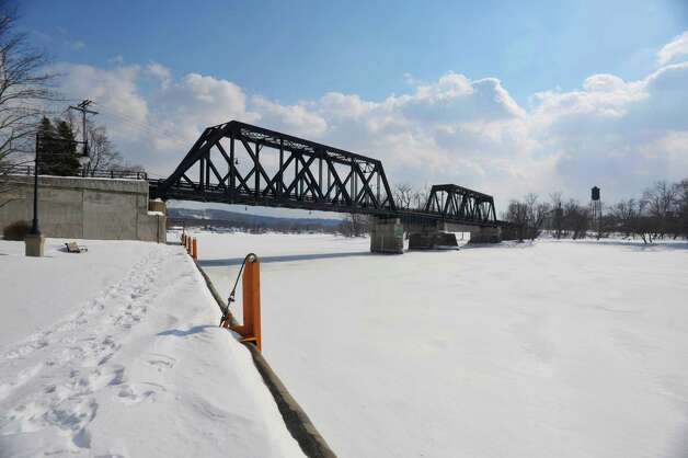 A view looking east on the Mohawk River towards where the Mohawk meets the Hudson River on Monday, March 2, 2015, in Waterford, N.Y.  (Paul Buckowski / Times Union) Photo: PAUL BUCKOWSKI / 00030827A