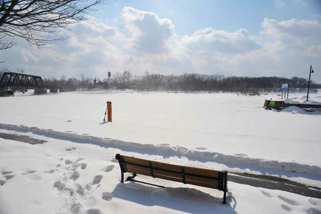 A view looking south across the Mohawk River where the Mohawk and Erie canal split, on Monday, March 2, 2015, in Waterford, N.Y.  (Paul Buckowski / Times Union) Photo: PAUL BUCKOWSKI / 00030827A