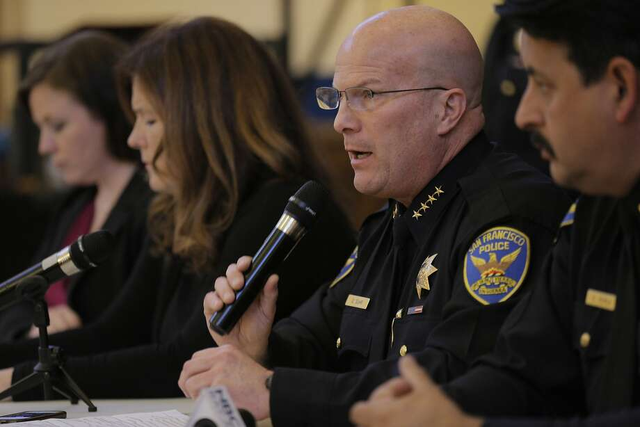 SFPD Chief Greg Suhr speaks to the audience during a town hall meeting on Monday, March 2, 2015. Photo: Carlos Avila Gonzalez, The Chronicle