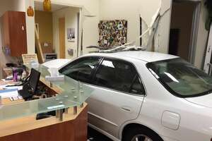 Car crashes into Campbell pet clinic - Photo