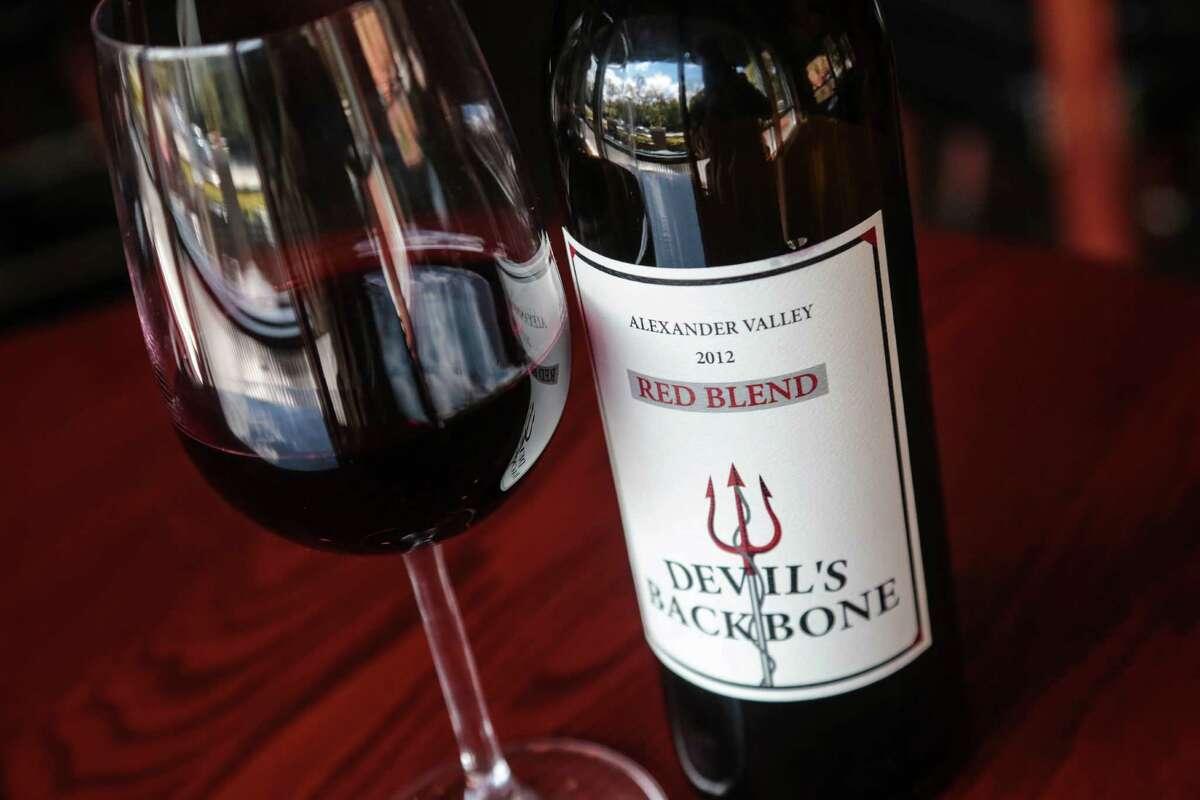 A bottle of Devil's Backbone a red blend wine at Sullivan's Restaurant Wednesday, February 25, 2015 in Houston, Texas. (Billy Smith II / Houston Chronicle)