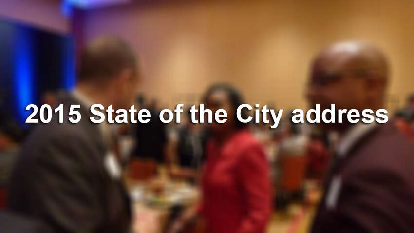 Click ahead for scene from the 2015 State of the City address and luncheon at San Antonio's Grand Hyatt on Tuesday, March 3, 2015.