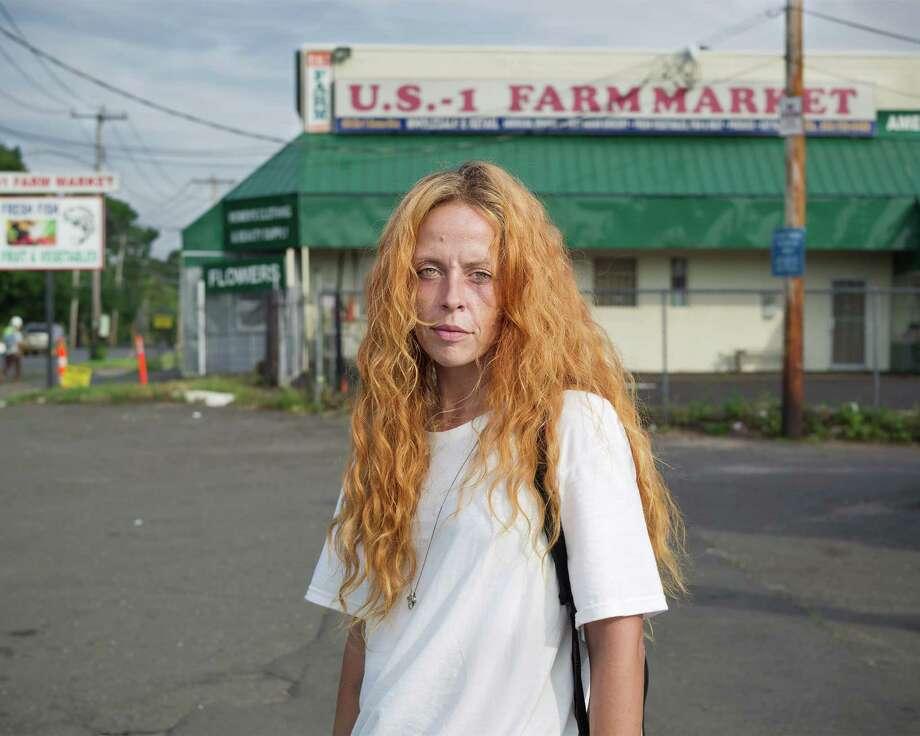 """At the corner of U.S. 1 and Ella T Grasso Blvd."",New Haven, Connecticut, 2014. Photo: Jim Goldberg/Magnum Photos / ONLINE_CHECK"
