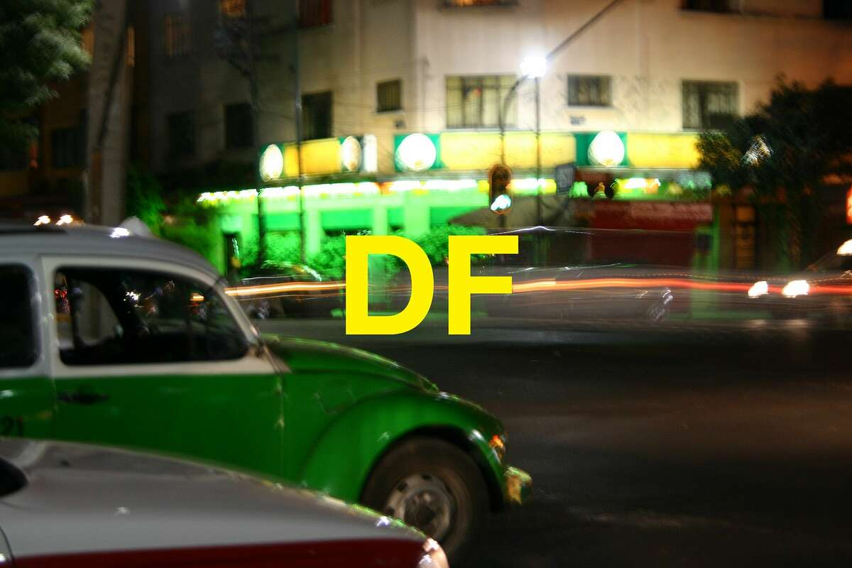 """""""DF,"""" an image by artist Chuck Ramirez, is one of the text-based artworks in More than Words,"""" a Contemporary Art Month exhibit at Ruiz-Healy Art."""