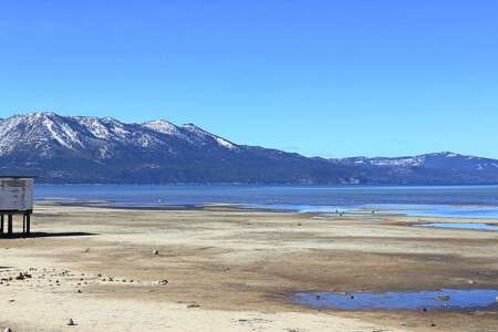 Slope Dope reader Eddie Hernandez wanted to remind everyone that lake levels are still very low in South Tahoe. Good point, Eddie. We need more snow, for sure. (Eddie Hernandez)