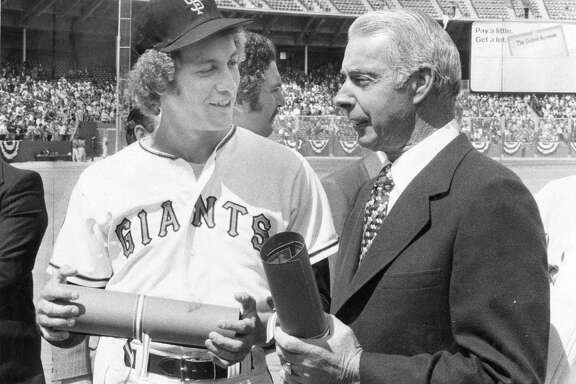 San Francisco Giants pitcher John Montefusco, seen here with Joe DiMaggio, was the team' opening day starter between 1976 and 1978.