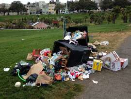 Garbage is a big problem at San Francisco's Dolores Park,  costing the Recreation and Parks Department $400,000 a year in clean up costs.