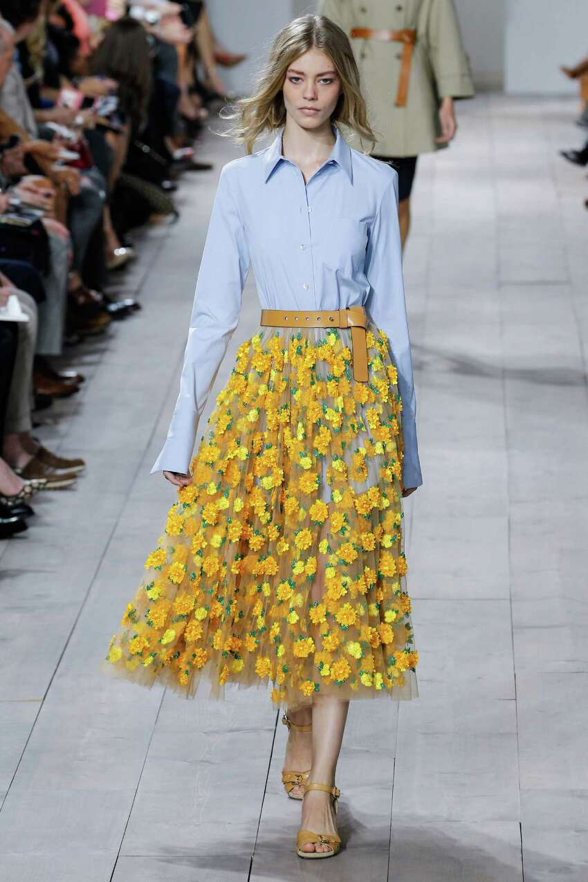 Floral prints, big and small, are an important spring 2015 trend as seen in this look from Michael Kors.