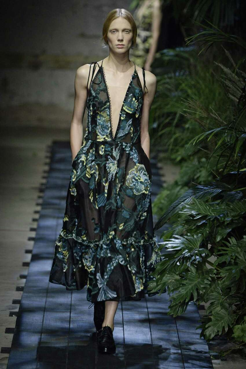 Floral prints, big and small, are an important spring 2015 trend as seen in this look from Erdem.