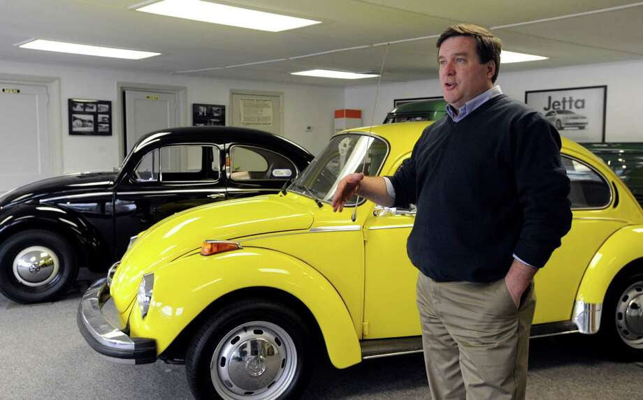 Ted Orr, the owner of New Milford Volkswagen, has confirmed that they are going out of business. He is photographed in front of vintage cars at the dealership on 469 Litchfield Rd. in New Milford, Conn., Tuesday, March 3, 2015. Photo: Carol Kaliff / The News-Times