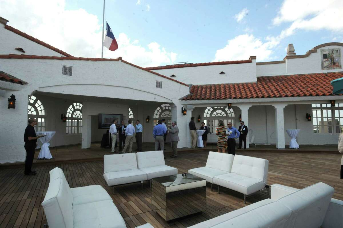 The rooftop bar is a highlight of the $24 million in renovations at the St. Anthony Hotel.
