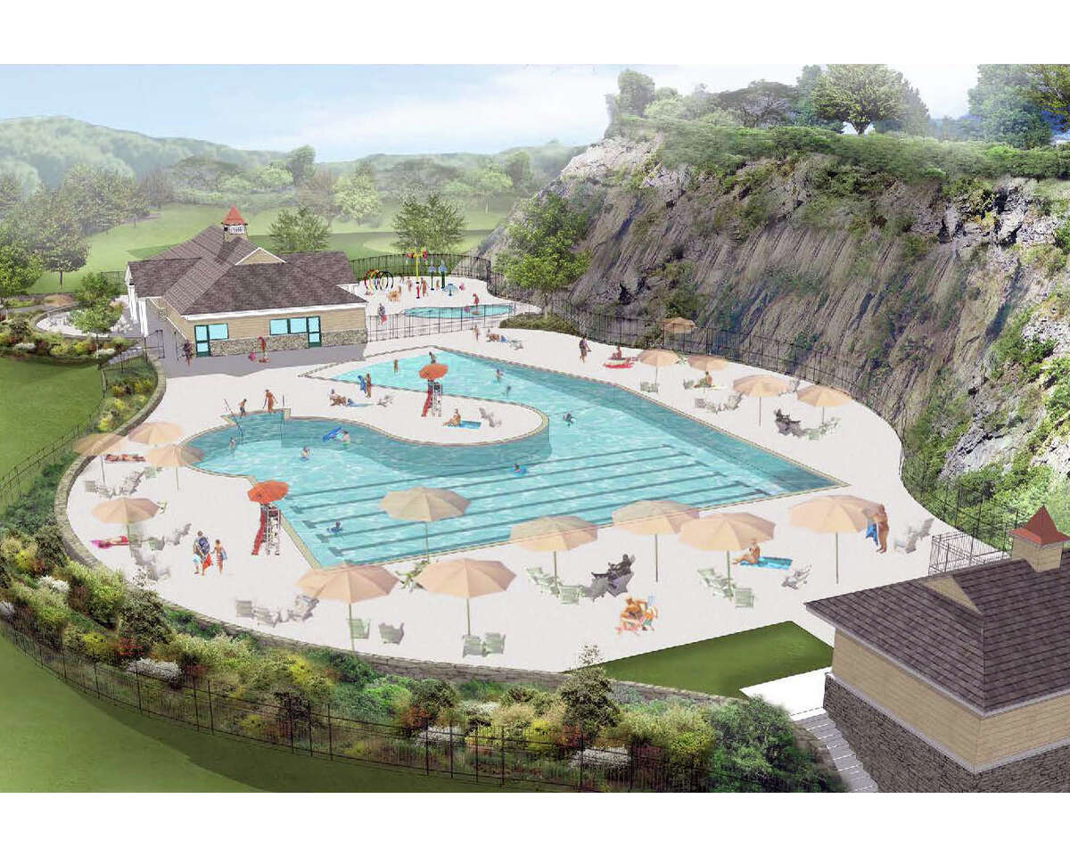 A rendering of the proposed municipal pool at Byram Park in Greenwich, Conn.