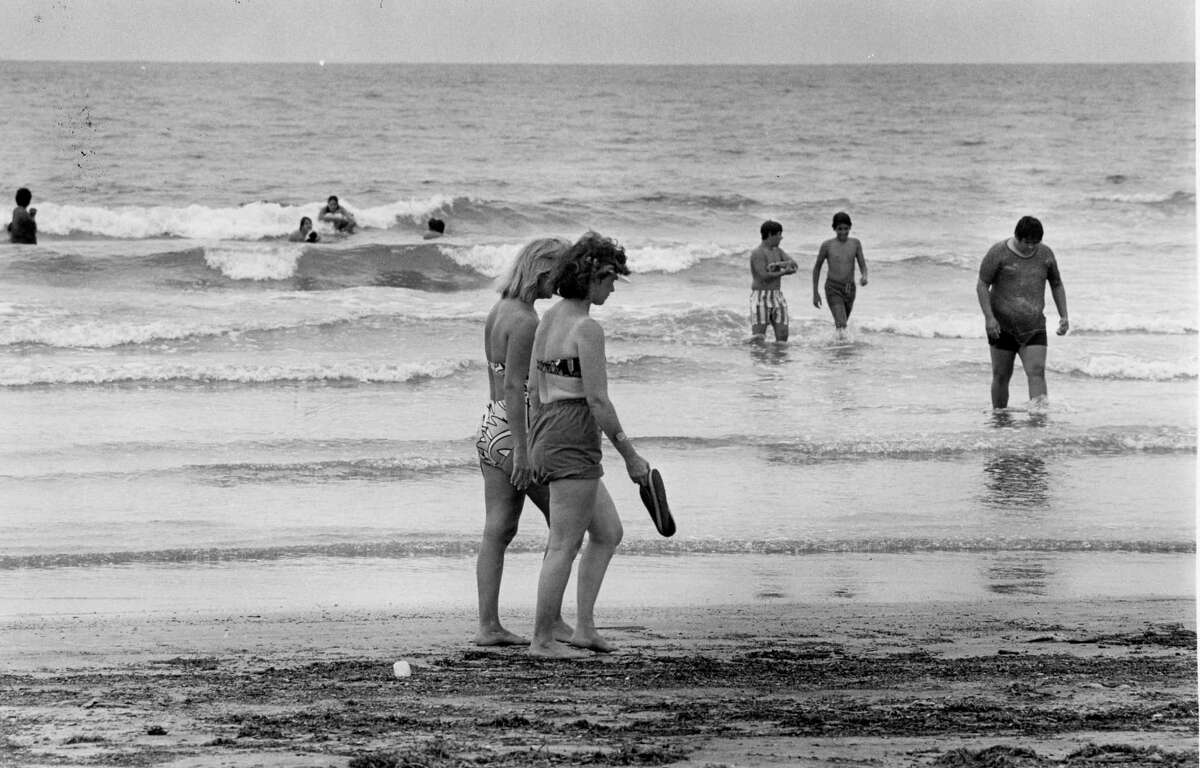 Flash forward fifty years to beach goers in 1987.