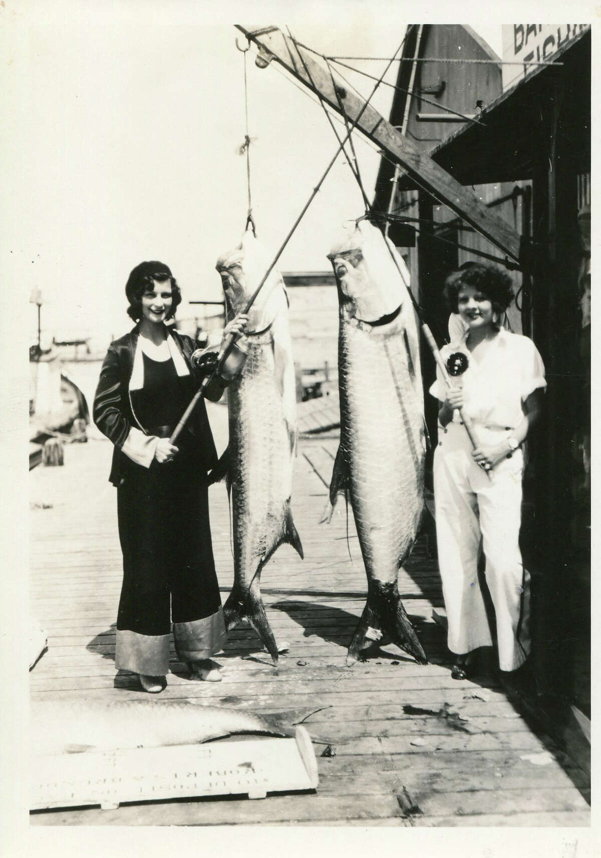 Fish the size of women testified to a fisherman's paradise in 1931.