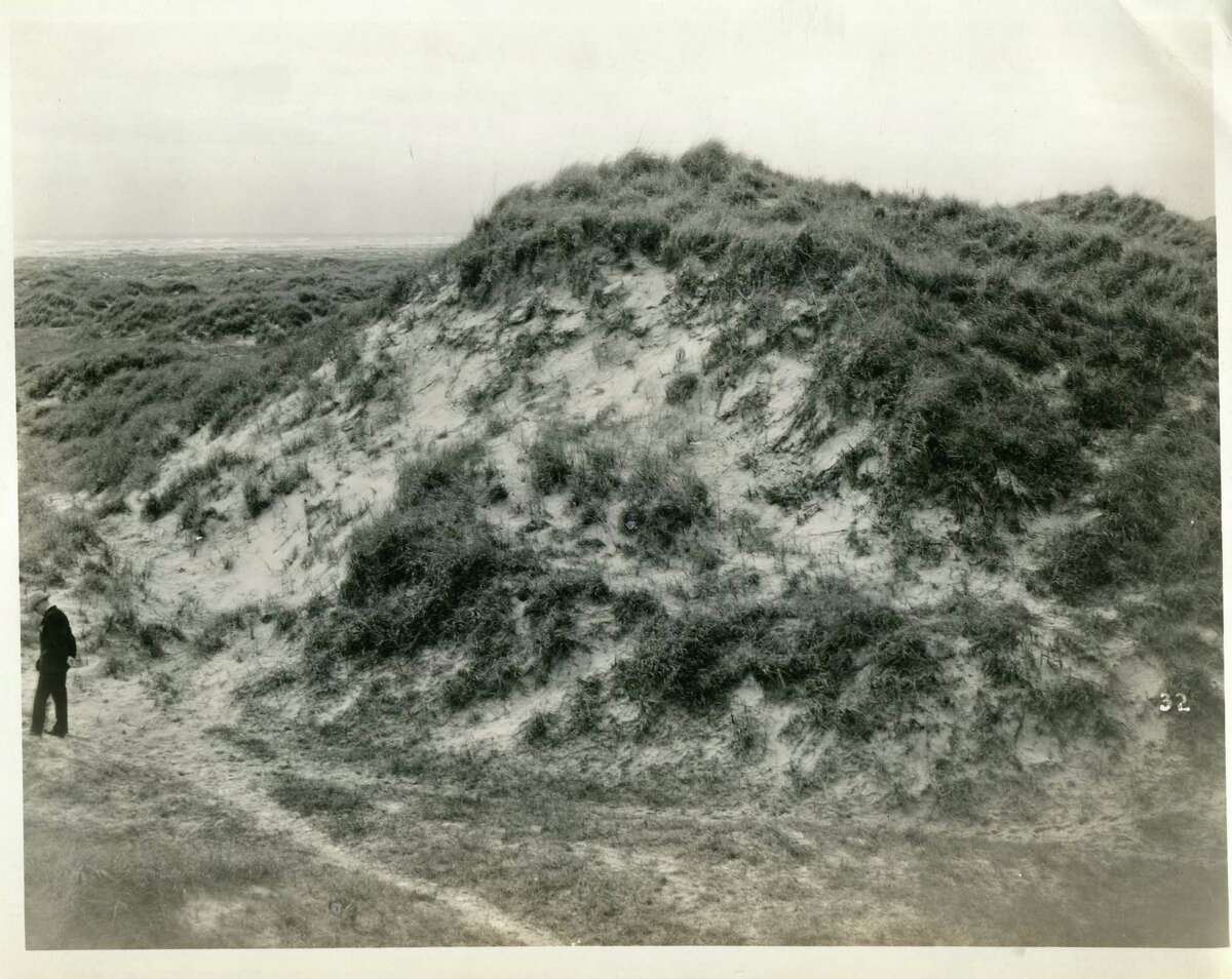 Mustang Island is known for dunes that dwarf men.