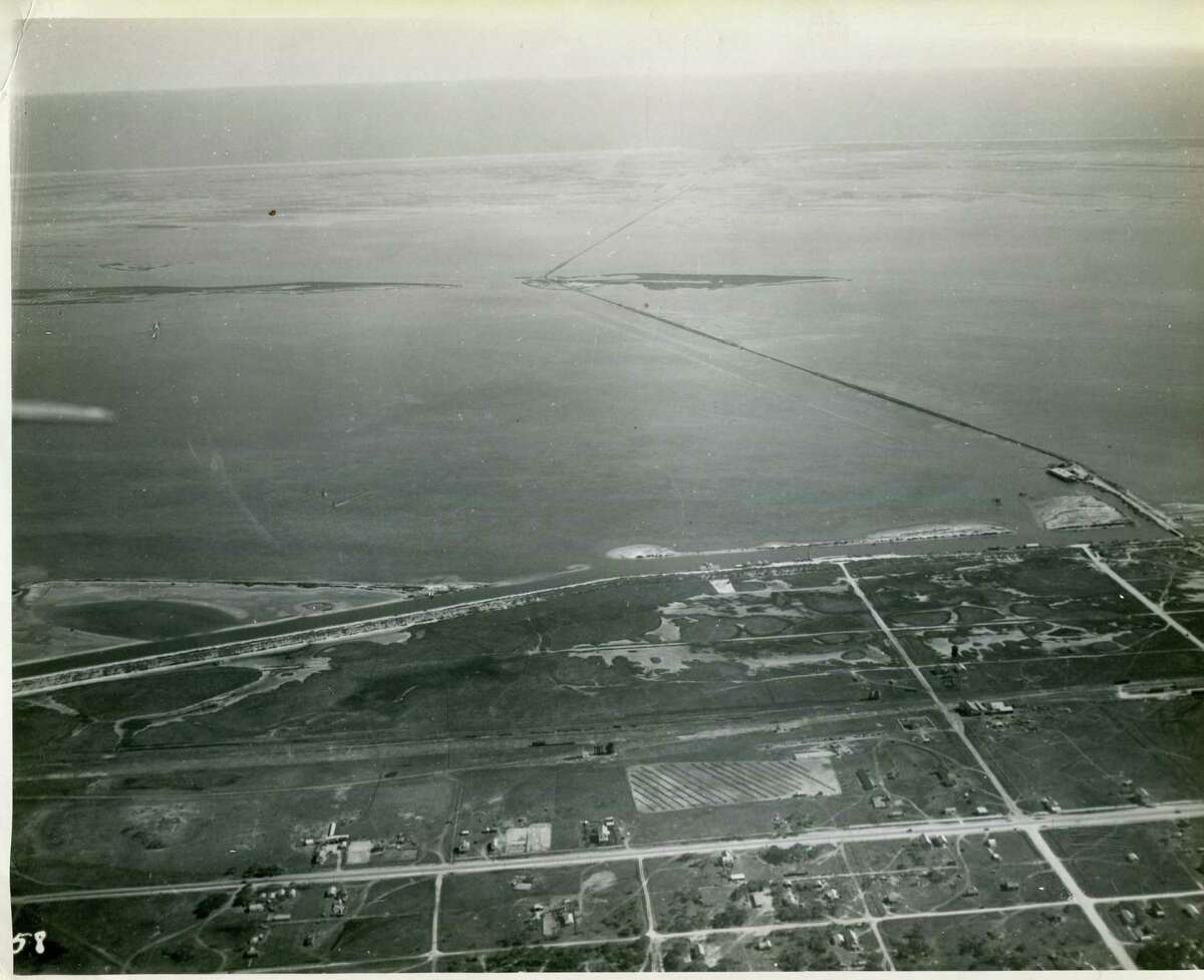 An undeveloped view of Harbor Island from Port Aransas