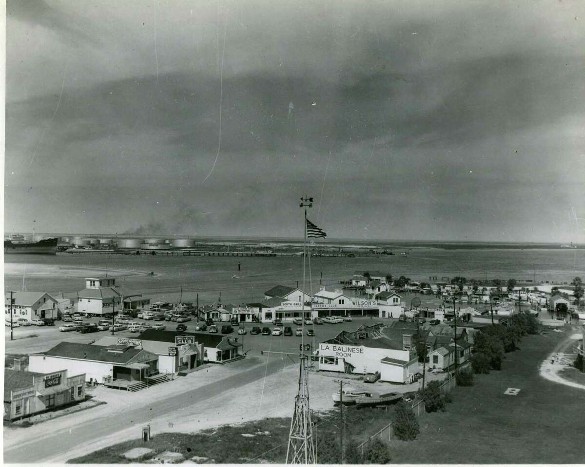 Taken in 1958, this photo shows how Port Aransas looked a few years before Hurricane Carla.