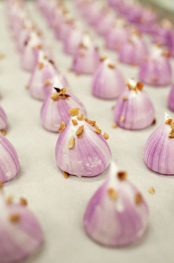 Monterey Meringues fresh out of the oven in Watsonville. Owners Domenick Allen and wife Leigh Zimmerman, both former performers, infused the classic treats with a classic-rock sensibility. Photo: Randi Lynn Beach / Special To The Chronicle / ONLINE_YES