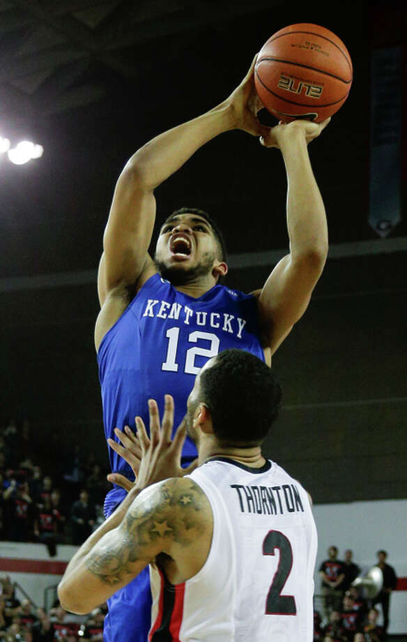 Kentucky freshman Karl- Anthony Towns was top scorer with 19 points. Photo: Mark Cornelison / McClatchy-Tribune News Service / Lexington Herald-Leader
