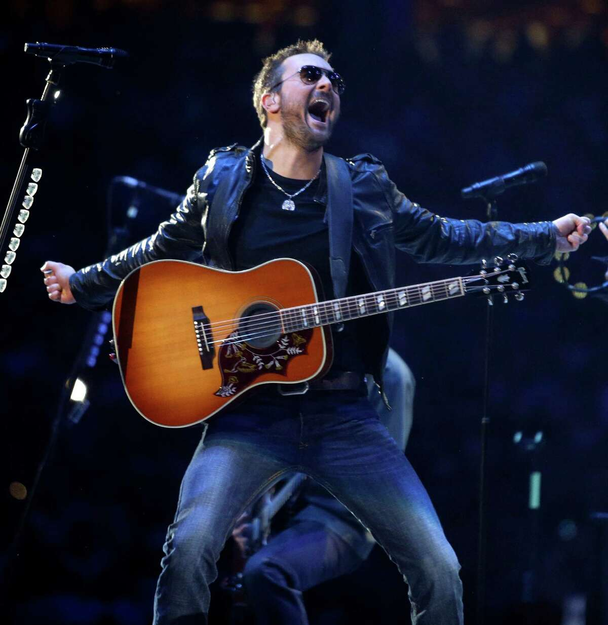 Eric Church performs during RodeoHouston at the Houston Livestock Show and Rodeo in NRG Stadium Tuesday, March 3, 2015, in Houston.