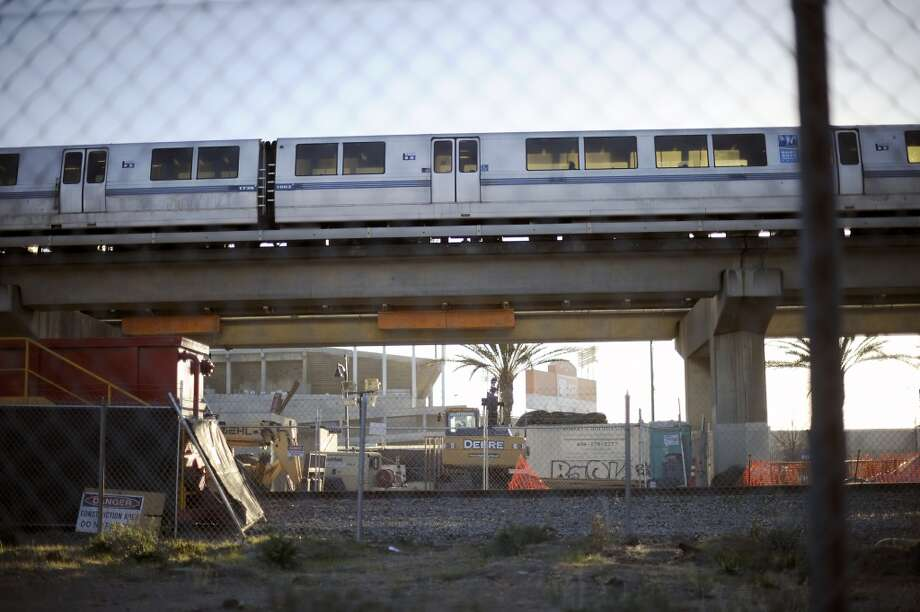 A BART train is seen near the Coliseum Station in a file photo. Photo: Michael Short, Special To The Chronicle