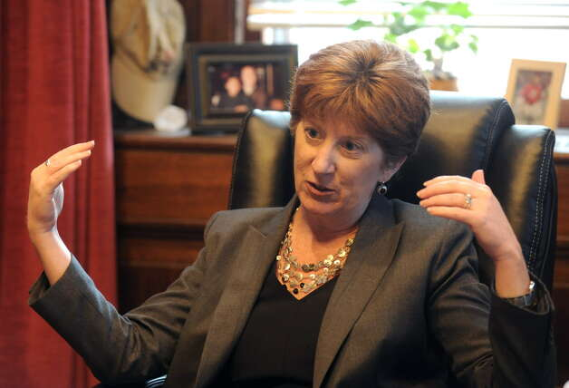 Albany Mayor Kathy Sheehan, shown in her City Hall office, has declined to say whether the Brighter Choice middle schools should stay open or close. The Brighter Choice Charter Middle School for Boys and the Brighter Choice Charter Middle School for Girls have received non-renewal recommendations from the SUNY Charter Schools Institute. (Michael P. Farrell/Times Union) ORG XMIT: MER2014123111350628 Photo: Michael P. Farrell / 00028452A