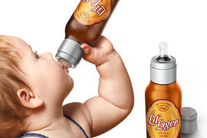 Beer bottle for babies: Bad product fail? - Photo