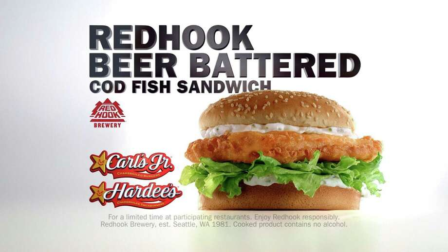 Carl 39 s jr gets crafty with a beer battered fish sandwich Hardee s fish sandwich