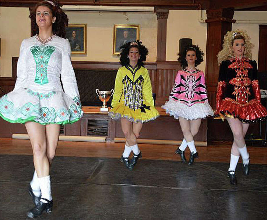 The Lenihan School of Irish Dance troupe, peforming at the Pequot Library last year, will perform there again this year on March 14. Photo: File Photo / Fairfield Citizen