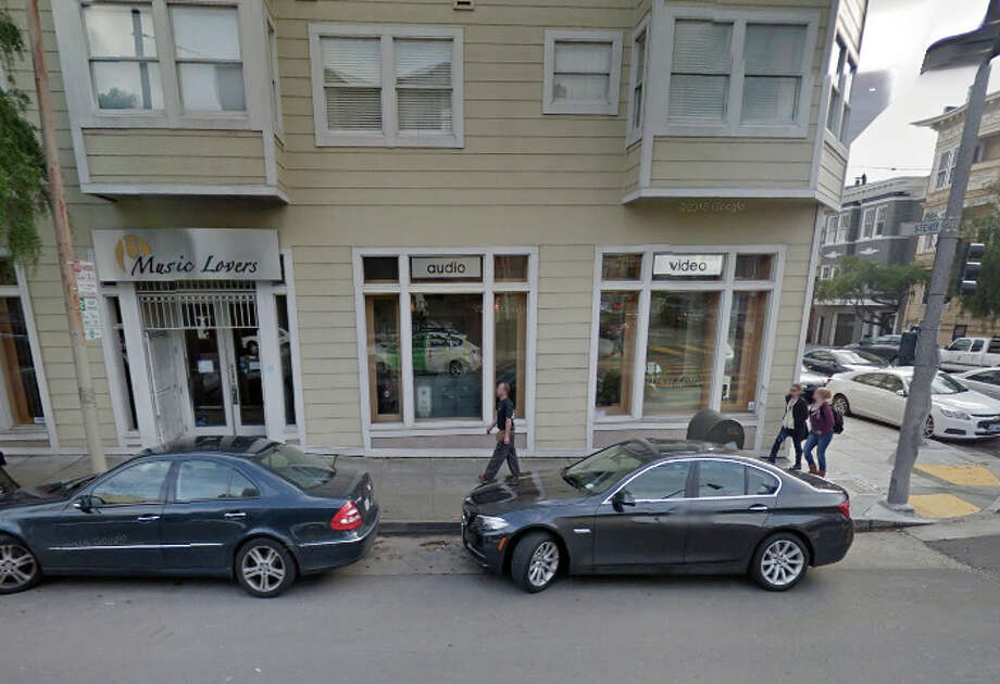 Burglars looted a Music Lovers store early Wednesday in San Francisco's Lower Pacific Heights neighborhood. Photo: Google Maps