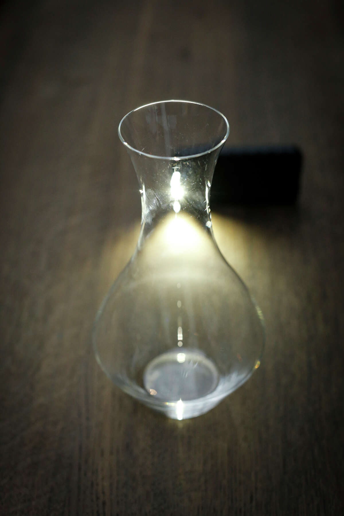 The decanter: One of the sommelier's most important items, sommelier Yoon Ha uses this at Benu.