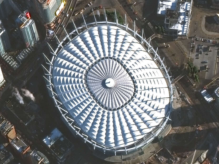 New High Resolution Satellite Imagery Of BC Place In Vancouver From DigitalGlobes