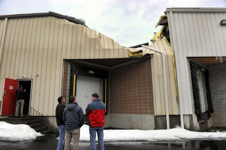 There was a partial roof collapse at Sky Zone in Bethel, Conn., Wednesday, March 4, 2015, presumably due to the weight of snow on the roof. Photo: Carol Kaliff